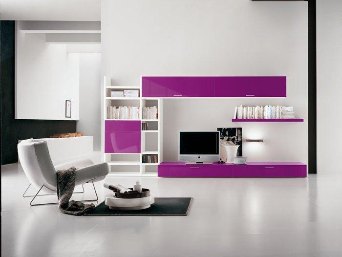 Современные стенки и горки в стиле хай-тек ZB43