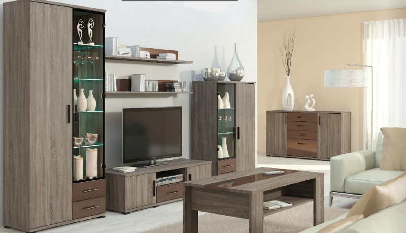 Moderne Möbel: Materialien der Herstellung